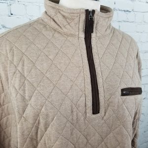 Johnston & Murphy Sweaters - JOHNSTON & MURPHY | quilted quarter zip pullover